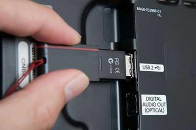 مشکل پورت USB در تلویزیون